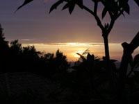 部瀬名から見た夕陽