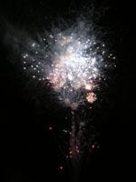 津田まつりの花火の写真