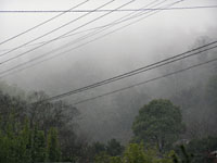 津田町で雪が降っている写真2