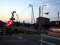 高徳線 国道11号線と県道2号線の踏切の写真