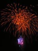 津田まつり 打ち上げ花火1の写真