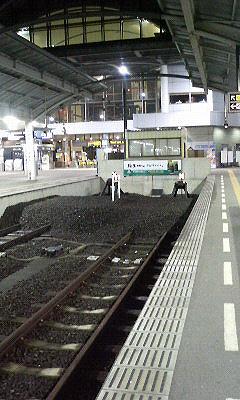 JR高松駅の列車止め?の写真