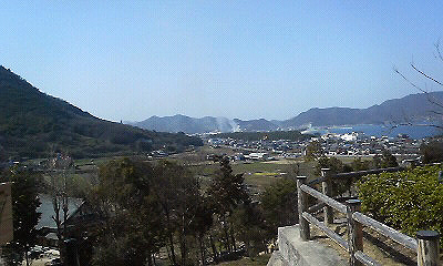 津田の寺町付近で火事の写真