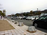 高速1000円初日の津田の松原サービスエリアの写真