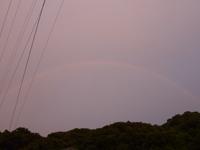 平成21年6月23日19時15分頃の虹の写真
