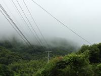 突然、山に雲が・・の写真