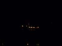 鶴羽の海で工事をしている写真(夜)