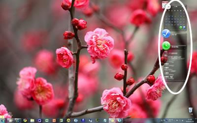 mitzのパソコンのデスクトップ Rainlendar2を使用しています