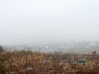 津田町、霧で真っ白の写真②