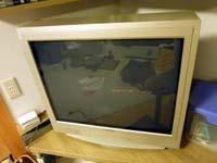映像が映らなくなったテレビの写真