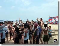 津田町地引き網の写真2010年7月30日⑥