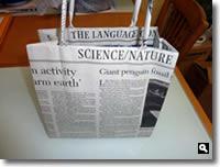 新聞紙バッグの写真