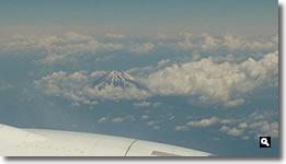 2014年6月13日 飛行機から見た富士山の写真