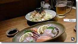 2014年7月17日 さぬき市津田町鶴羽 満潮 刺身三種盛の写真