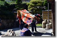 2015年10月3日 mitzの実家に来てくれたさぬき市津田町西町東の獅子舞の写真