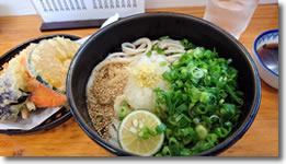 2017年9月25日 さぬきうどん羽立「ぶっかけうどん(冷)と野菜天」の写真