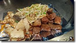 2017年12月21日 さぬき市津田「鉄板焼よしはら」のステーキの写真