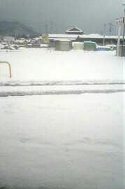 2018年1月11日県道2号線を徳島に抜けた付近の雪の写真
