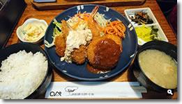2018年4月9日 さぬき市津田町鶴羽「ロペ」 ミックスフライ定食の写真