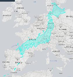 2018年6月5日 日本とEUの国土比較画像