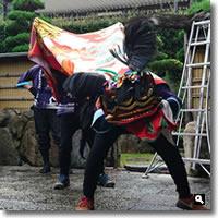2018年10月5日 さぬき市津田町mitzの実家に来てくれた獅子舞の写真