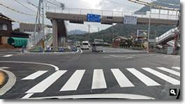 2018年11月22日 完成したと思われる津田交番前交差点の写真