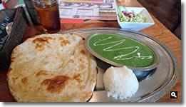2019年2月22日 INDIAN RESTAURANT ZAIKA (インド料理 ザイカ) チキンとほうれん草のカレーの写真