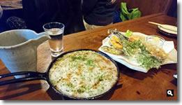 2019年5月1日 海ぼうず 山芋鉄板焼きと春の天ぷらの写真