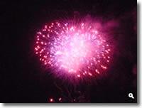 津田まつり2010の花火の写真④